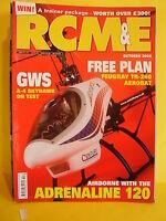"RCM&E OCTOBER 2008 GWS A4 SKYHAWK & FEUGRAY TR 260 PLANS 52"" AEROBATIC P MILLER"