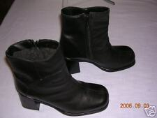 BASTIEN Black Leather Ankle Boots - 8 1/2M (40)