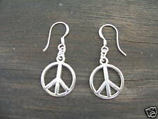 PEACE SIGN SYMBOL Dangle Earrings! STERLING silver post