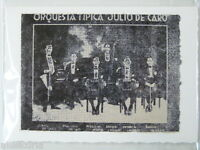 handmade greetings / birthday card TANGO / orquesta tipica julio de caro , 1920s