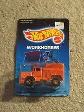 Hot Wheels Workhorses Oshkosh Snowplow Orange MOC 1988
