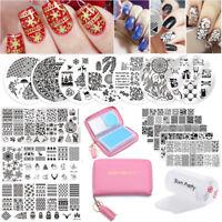 Born Pretty Nail Art Kits Stamping Plates Stamper Scraper Print Tools Collection