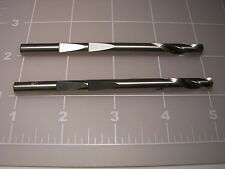"""2) Hole Saw pilot drills 4""""  1/4""""made in USA 4 inch 1/4 inch HSS drill"""