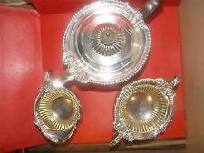 Solid Silver Tea Set Teapot Sugar Basin Jug  Barnard 1891  947 g 24hr special