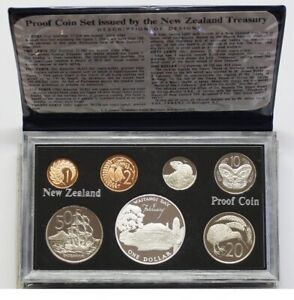 New Zealand - 1977 - Silver Proof Coin Set --   Waitangi