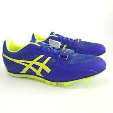 Asics Turbo Jump 2 Track Spikes Deep Blue/Flash Yellow Men'sSize 12 G505Y