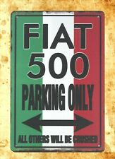 US Seller- Flat 500 Parking Only All Others Will Be Crushed sign tin garage