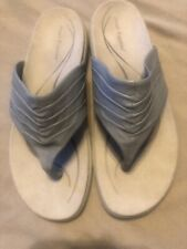 Soft Style Hush Puppies Women's Provocative Lt Blue Leather Sandal 8M LkNew