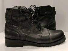 Kenneth Cole Reaction Victory March Mens 11 Black Motorcycle Combat Boots