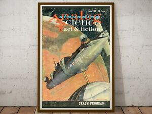 """1960 Science Fiction Space Station POSTER! (up to 24"""" x 36"""") - Sci Fi"""