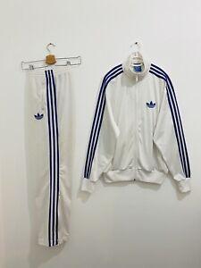 Adidas Originals ADI-Firebird Tracksuit White Blue Size M