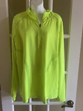 Xersiom XLT Womens Yellow Half Zip Hooded Running Pullover