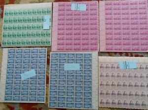 A Large Selection Of Damaged 3, 4 & 5 Cent Sheets. Face $59.50.  #02 USSH33sh