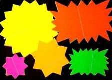 50 X ad Alta Visibilità Neon Fluorescenti Stelle di carta di visualizzazione della scuola mercato bancarelle