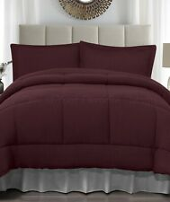 Ruby Red King Size Jersey Comforter & Pillow Sham Bed 3-Pc Set