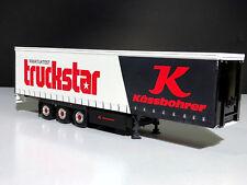 "WSI TRUCK MODELS,KASSBOHRER CURTAINSIDE TRAILER 3 AXLE ""TRUCKSTAR"""