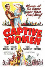 1952 CAPTIVE WOMEN VINTAGE MOVIE POSTER PRINT 54x36 BIG