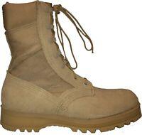 Wellco US Army GI Military Hot Weather Combat Boot, Tan Desert