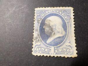 ETATS UNIS, USA, 1870 timbre CLASSIQUE 39, FRANKLIN, oblitéré, VF used STAMPS