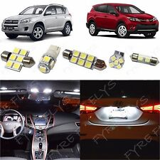 6x White LED lights interior package kit for 2006-2013 Toyota RAV4 TR1W
