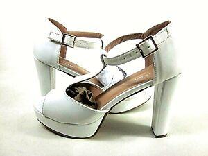 Top Moda Premier Standard Women's Thomas-8 White Heels,US Size 10