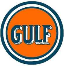 GULF 3 DOME TANKER SELF ADHESIVE STICKER for American Flyer S Gauge Scale Trains