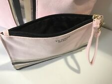 Victoria's Secret Pink Wristlet Canvas Zippered Bag Pouch New