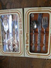 Vintage Retro 1970s ERA TWO  Boxed SetS OF 3 KNIFE ,FORK,SPOON FREEPOST