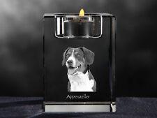 Appenzeller Sennenhund, Kristall-Kerzenleuchter mit Hund, Crystal Animals CH