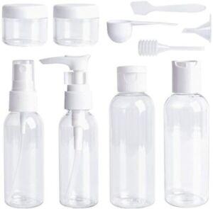 10 Pcs100ml Travel Pump Bottle Liquid Hand Wash Spray Toiletry Set Leak-Proof