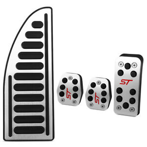 FORD Focus ST Alloy Brake Clutch Accelerator Pedal covers MK2 & MK3