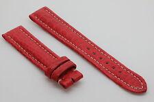 Bracelet/Band Crocodile 18/16mm Rouge pour montre boucle ardillon BREITLING