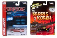 Christine 1958 Plymouth Fury & THE MUNSTERS BARRIS KOACH 1:64 DIECAST CAR MODEL