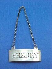 "SCOTTISH STERLING SILVER DECANTER WINE LABEL ""SHERRY"" CIRCA 1800 EDINBURGH"