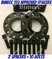 ALLOY WHEEL SPACERS X 4 FOR BMW E81 E82 E87 E88 1 SERIES 12mm S BIMECC M12 72.6