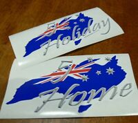 2x 5 Star Holiday/Home Australian Made Flag Souvenir Southern Cross UV Stickers