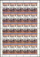 1902 GER Class A55 DECAPOD 0-10-0T Train 50-Stamp Sheet (Leaders of the World)