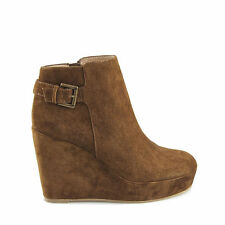 High (3 in. and Up) Wedge Suede Casual Boots for Women