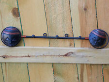 Fair Trade Handcrafted Wall Rack with Masks (Coat Rack) made  in Ghana.