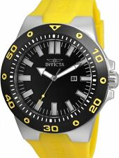 NEW NIB Invicta 52mm Pro Diver Black / Yellow Watch 23480 w/ One-Slot Dive Case