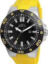 NEW NIB Invicta 52mm Pro Diver Black / Yellow Watch 23480 w/ One-Slot Dive Case