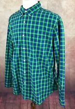 American Eagle Outfitters Athletic Fit Long Sleeve Green Check Shirt Men's XL