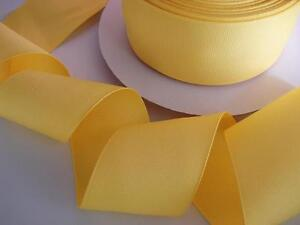 """10 yards Solid Grosgrain 2"""" Wide Ribbon/Craft/50mm/Bow/Supply GR20-06 Yellow"""
