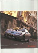 TOYOTA CELICA 'PREVIEW' SALES BROCHURE OCTOBER 1999 FOR 2000
