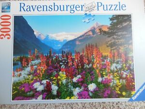 Ravensburger 3000 Piece  Puzzle Flowery Mountains - Complete