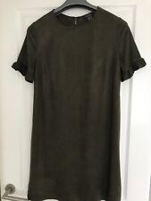 Primark khaki frill sleeve dress size 10