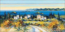 Kerfily: En chemin Châssis-image toile côte mer paysage chemin Provence