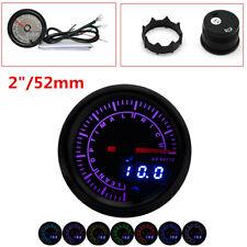"12V Universal 2"" 52mm 7 Colors LED Digital Dual Display Car Air Fuel Ratio Gauge"