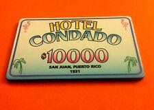 $10000 CARIBBEAN CASINO Tribute HOTEL CONDADO Puerto Rico Caribe POKER Chip Club