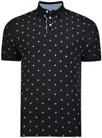 Mens Kam Big & Tall Dobby Compass Polo Shirt  Sizes  2XL 3XL 4XL 5XL 6XL 7XL 8XL